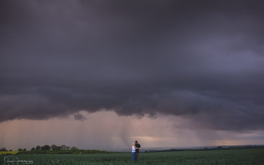 Stevie & Cory | Engagement photography |Chasing Thunderstorms