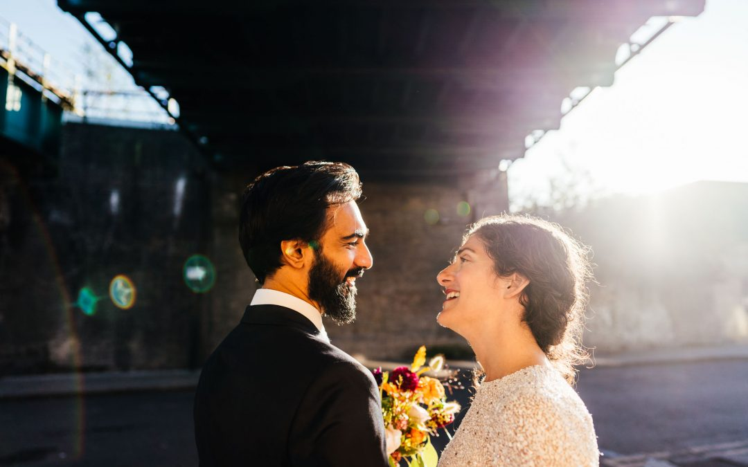 A tiny London Micro Wedding | Amy + Imran